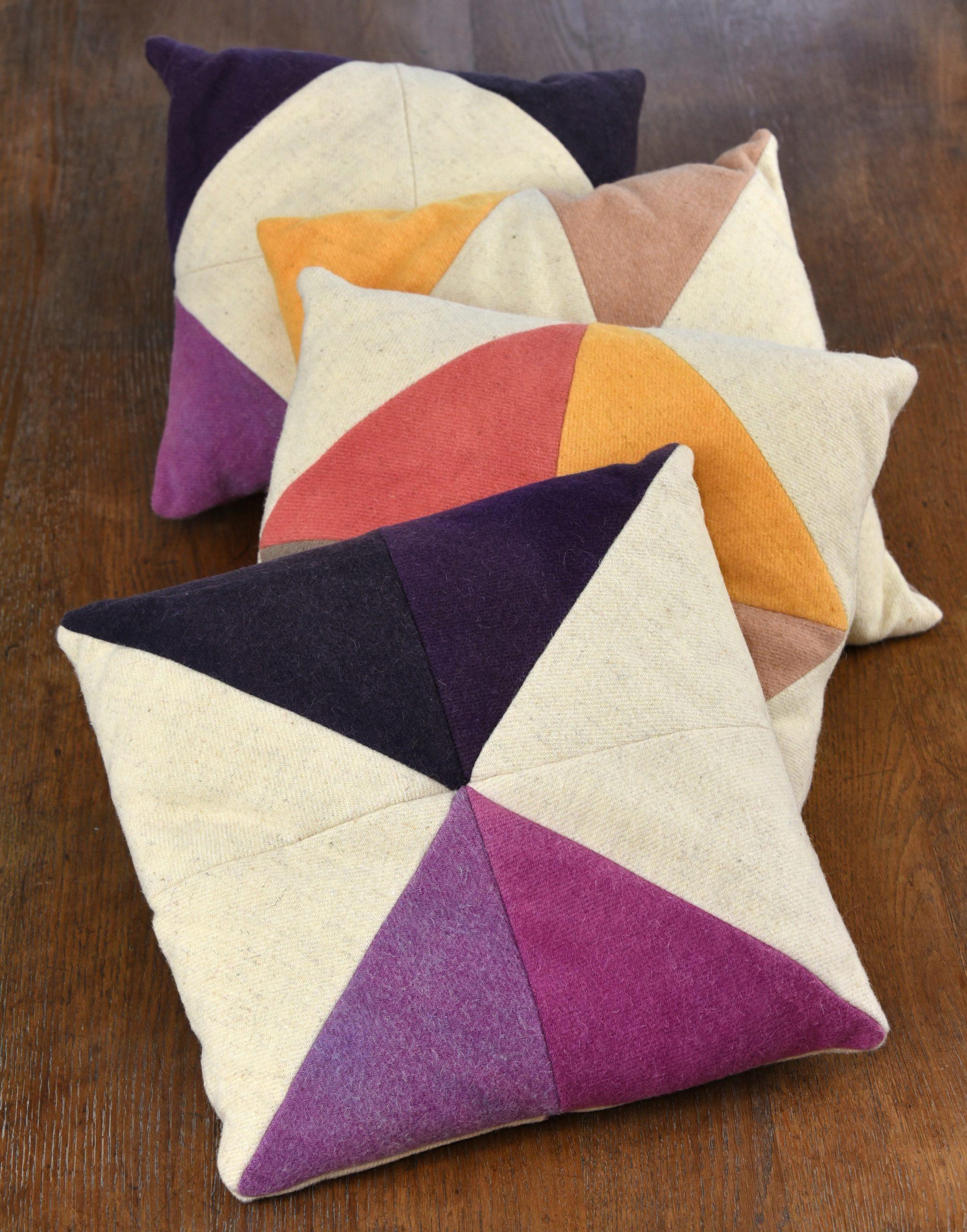 Le coussin Origami en laine